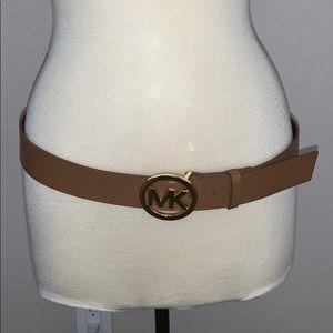 "Michael Kors Cognac brown leather belt 41"" long"